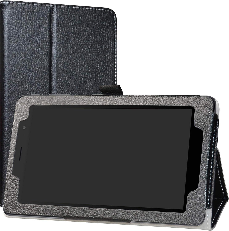 Red Stand Folio Case Cover for 7 Alcatel 1T 7 inch 8068 Tablet(Not fit Alcatel 1T 8082 10inch) Labanema Case for Alcatel 1T
