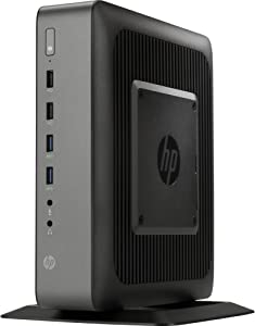 HP F5A61UT#ABA Flexible Thin Client T620 Plus Tower Desktop, 4 GB RAM, 16 GB SSD, AMD Radeon HD 8400E, Black