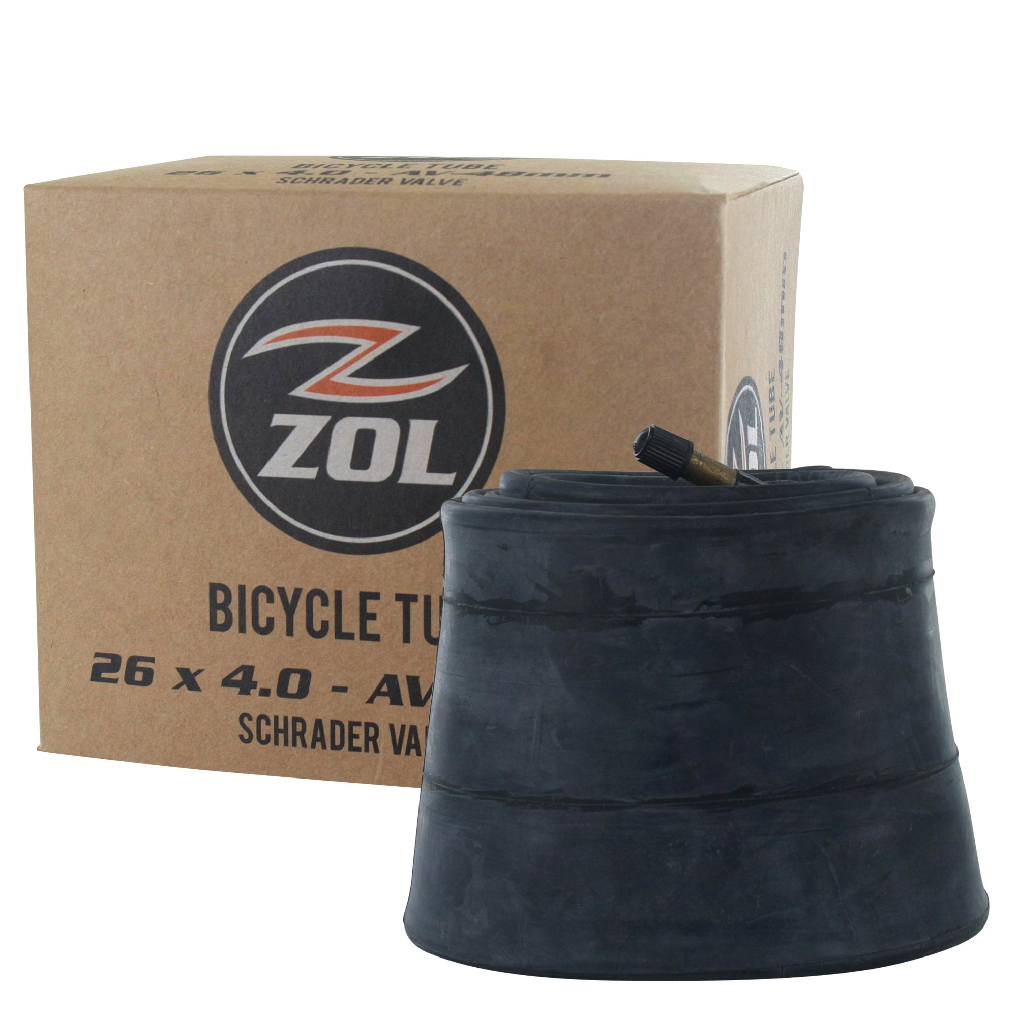 Zol MTB Fat Tire Bike Bicycle Inner Tube 26'' x 4.0 Schrader Valve 48mm(2 PCS) by Zol