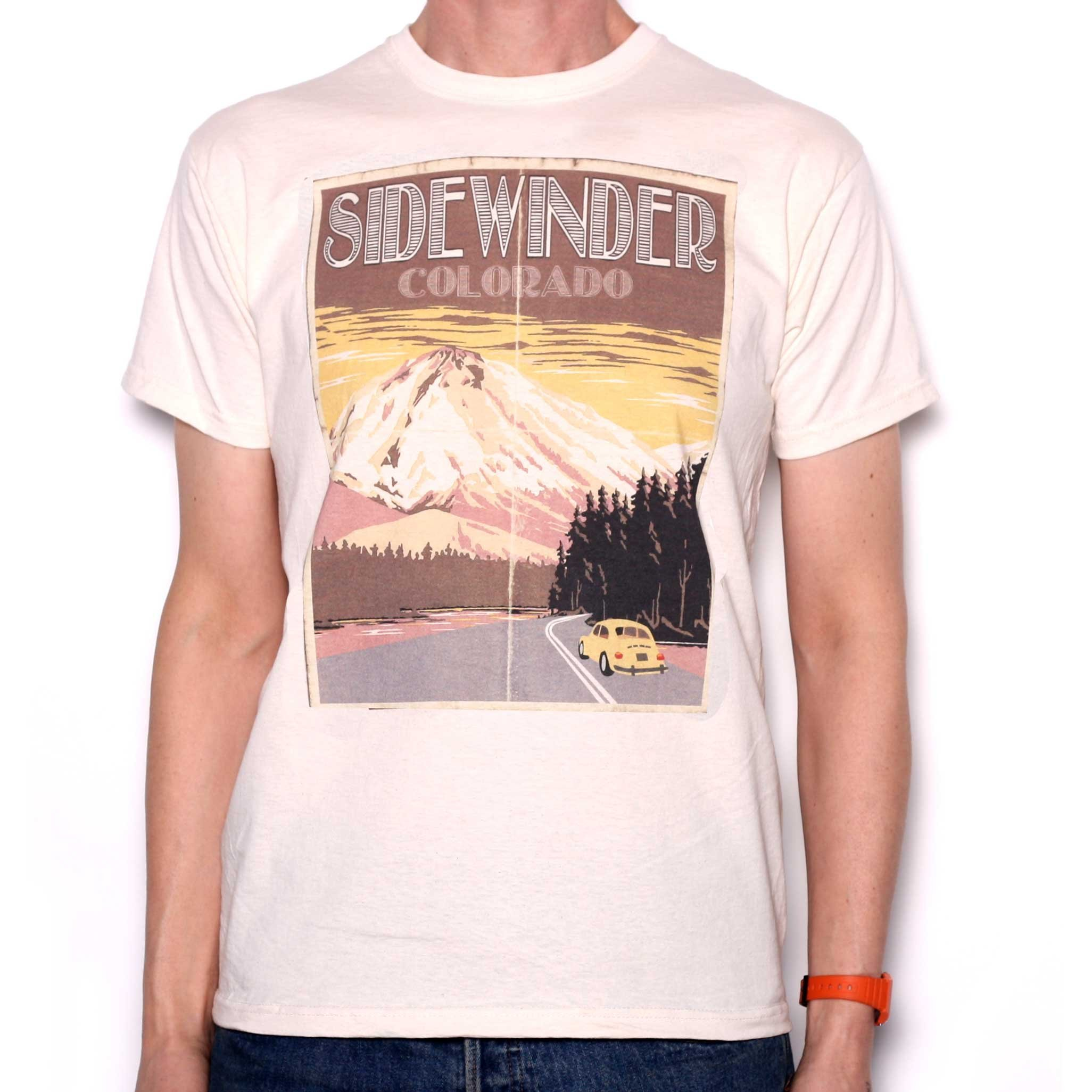 Old Skool Hooligans Sidewinder Colorado Travel Poster T Shirt
