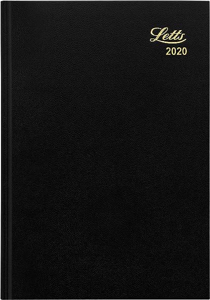 Agenda 2020 semainier A5 1 jour par page noir//gris