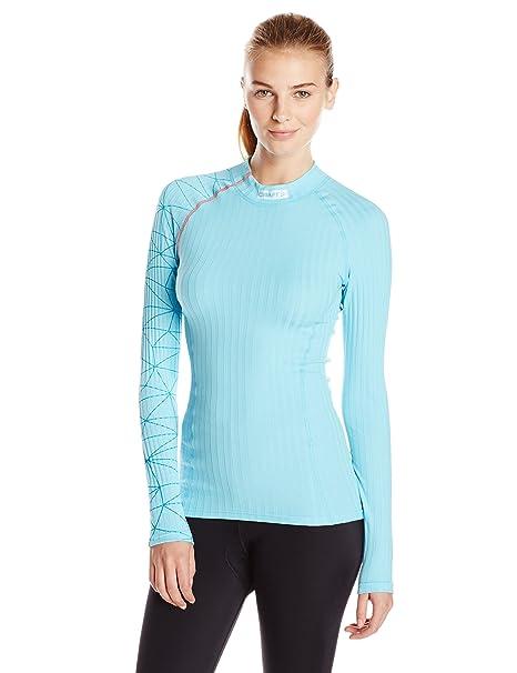 28298c83dc9 Craft Sportswear Women s Zero Extreme Wicking Athletic  Skiing Cycling Bike Training Long Sleeve Base Layer Crew  ...