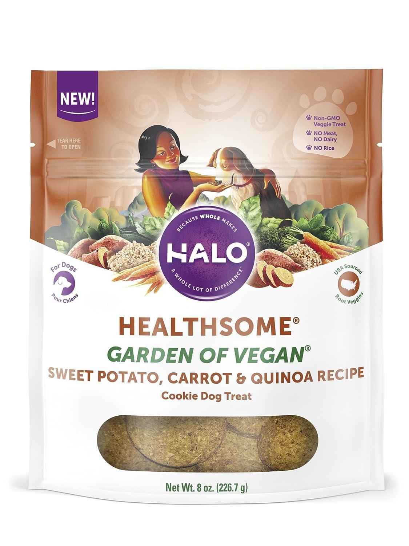 Halo Healthsome Garden of Vegan Sweet Potato, Carrot & Quinoa Vegan Dog Treats