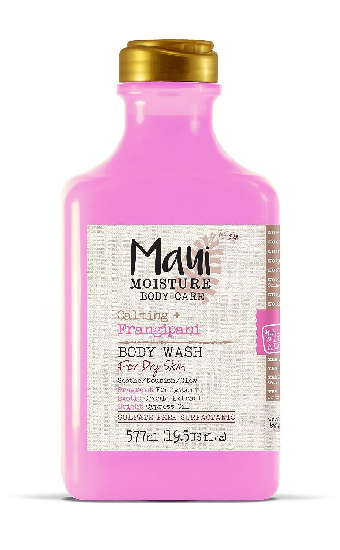 Maui Moisture Frangipani Body Wash for Dry Skin 19.5 Ounce Moisturizing Body Wash Formulated for Dry Skin, with Aloe Vera Juice and Coconut Water, Silicone Free : Beauty