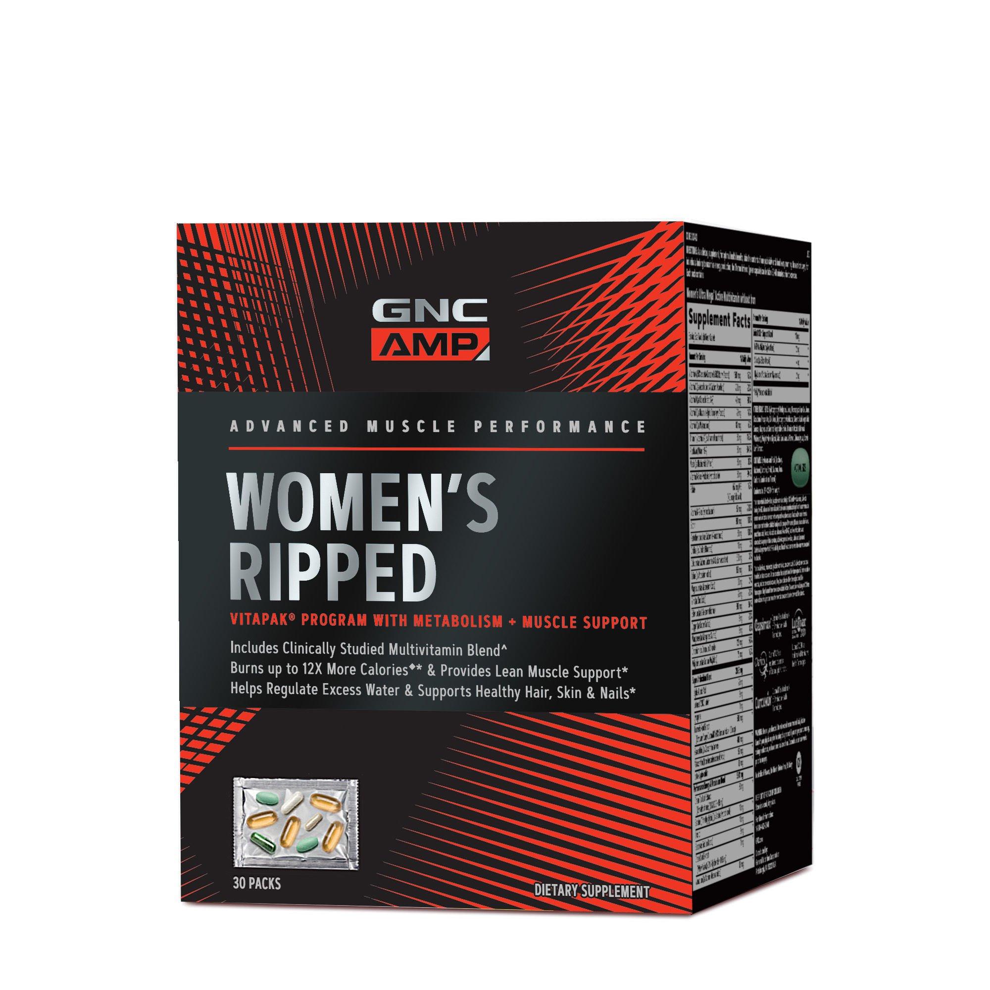 GNC Pro Performance AMP Womens Ripped Vitapak Program, 30 Packets