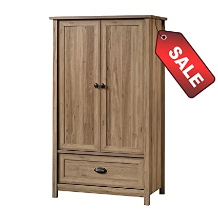 Amazon Com Efd Wooden Wardrobe Armoire Cabinet Closet Modern With