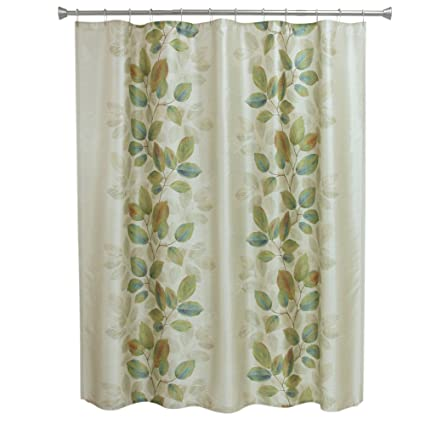 Amazon Bacova Guild Shower Curtain Waterfalls Leaves Home