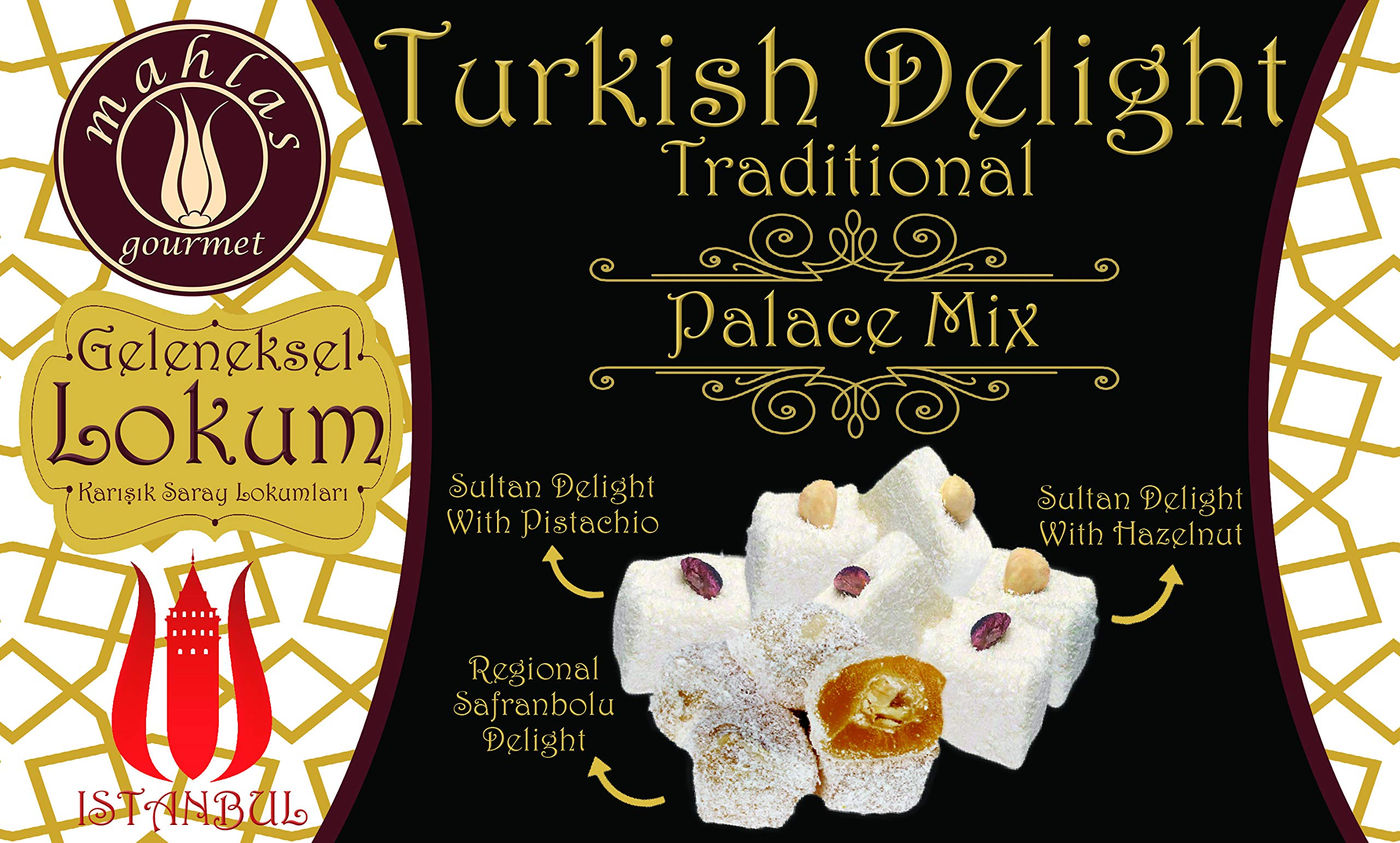 Mahlas Gourmet Turkish Delight - Traditional Sweet Halva From The 17th Century - Vegan Dessert With Pistachio And Hazelnut by Mahlas Gourmet (Image #4)