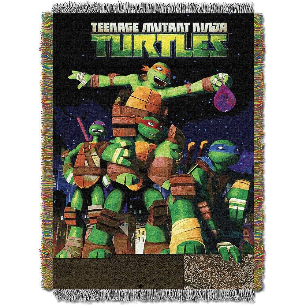 Teenage Mutant Ninja Turtles Nickelodeons, Guardian Ninjas Woven Tapestry Throw Blanket, 48