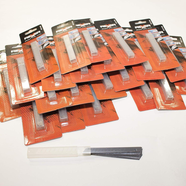 500 Cuttermesserklingen 18 mm Abbrechklingen 0,4 mm Cuttermesser Teppichmesser