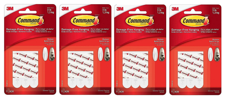 Medium Command Refill Strips White 36-Strips