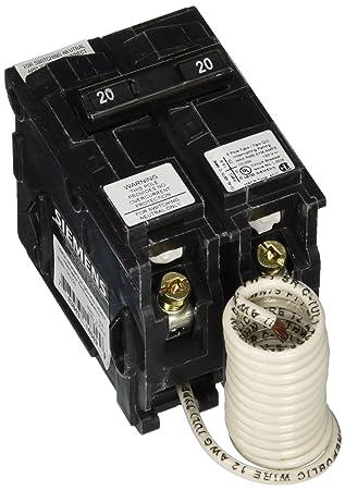Siemens QG220 20-Amp 2-Wire BG Switch Neutral Breaker - Ground Fault ...