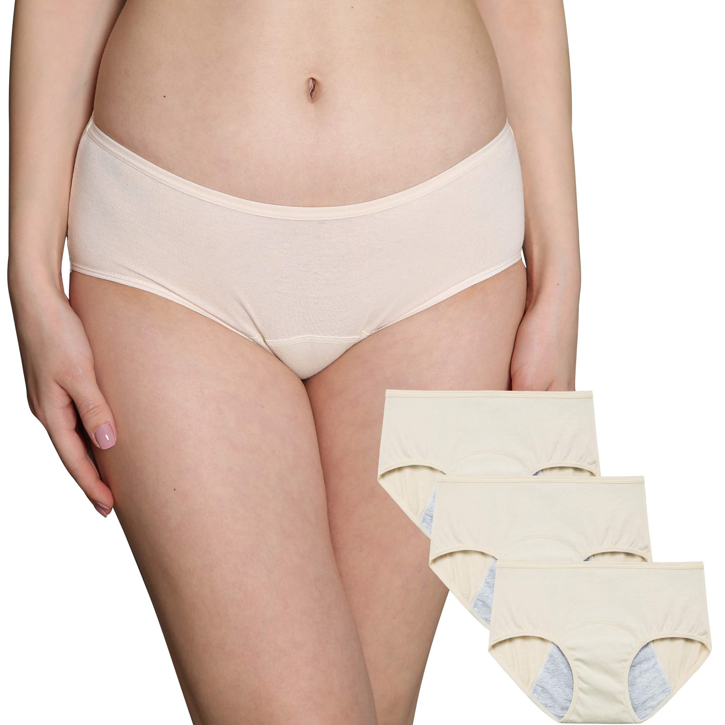 b2eba3c96644 INNERSY Women's Menstrual Cycle Panties Low Rise Postpartum Briefs Elastic  Leakproof Period Underwear Cotton C Section