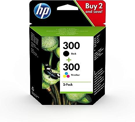 HP 300 CN637EE, Pack de 2, Cartuchos de Tinta Originales Negro y Tricolor, compatible con impresoras de inyección de tinta HP DeskJet D2560, D2660, F4280, F4224, F4283; Photosmart Serie C: Hp: Amazon.es: