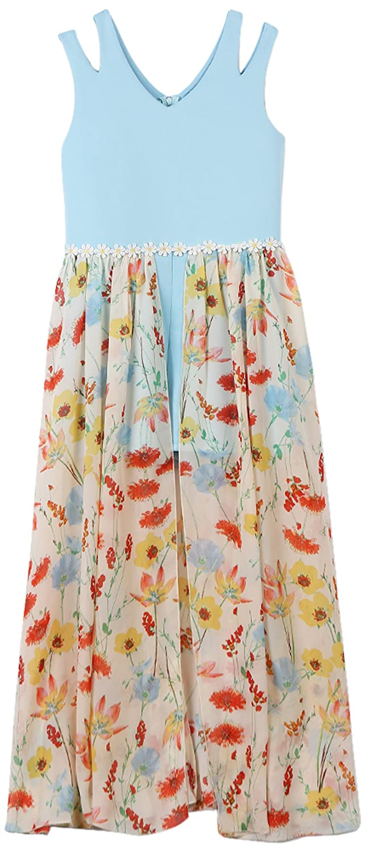 ac38c7879837 Amazon.com  Speechless Girls  Big Walk-Through Romper Maxi Dress  Clothing