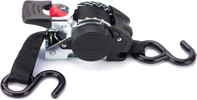 Marwotec Verbindungselemente 4 X Automatik Spanngurt Automatischer Zurrgurt 3 0m X 50mm 750dan 1500 Dan Selbstaufrollend Mit S Haken Auto