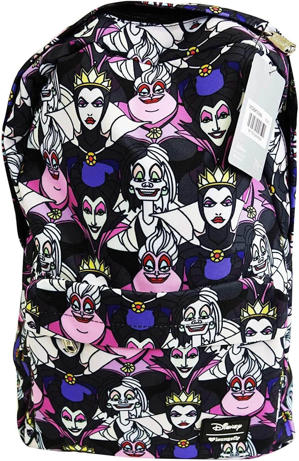 Loungefly Disney Villains All Over Print Backpack Standard