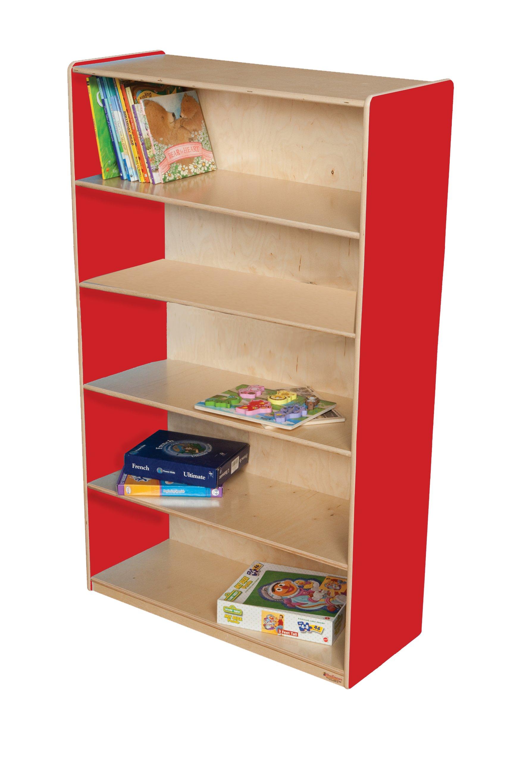 Wood Designs WD12960R Bookshelf, 60 x 36 x 15'' (H x W x D), Strawberry Red Color