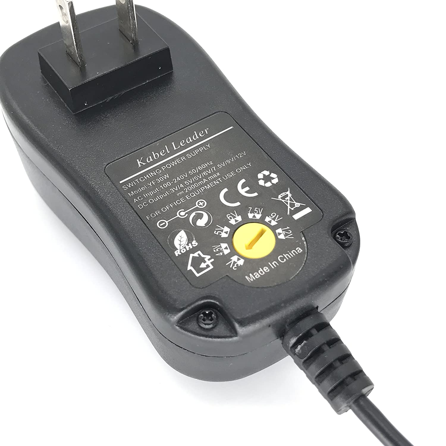 Amazon.com: Kabel leader Universal AC/DC Adapter Multi-Voltage ...