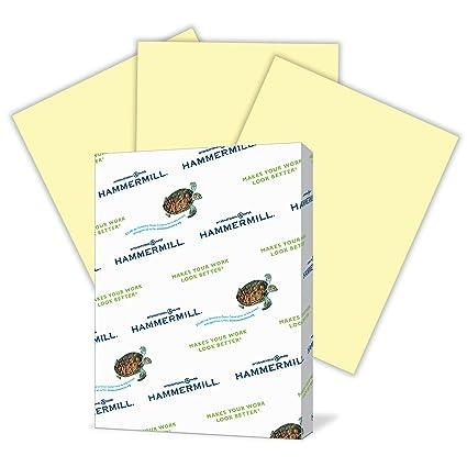 amazon com hammermill colored paper canary printer paper 24lb
