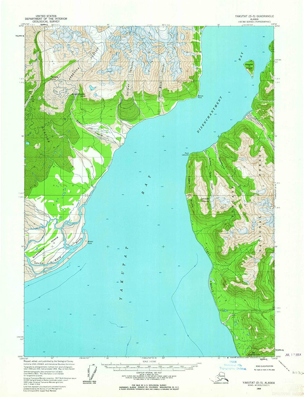 Amazon.com: Alaska Maps | 1959 Yakutat, AK USGS Historical ...