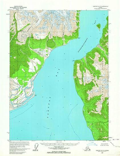 Amazon.com: Alaska Maps   1959 Yakutat, AK USGS Historical ...