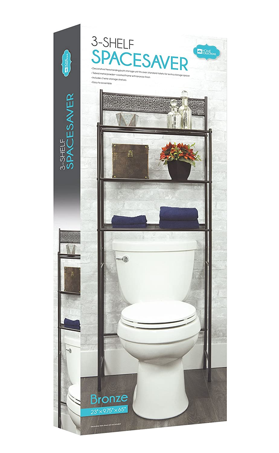 Amazon.com: 3 Shelf Over The Toilet Spacesaver Easy to Assemble ...