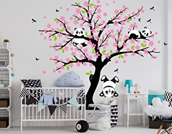 Bdecoll Cartoon Arbre Panda Diy Stickers Murauxarbres Stickers