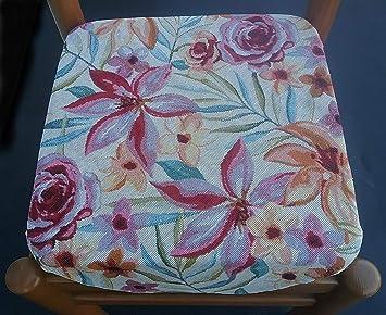 Muro - Juego de 4 Cojines para sillas de Cocina, con Solapas ...