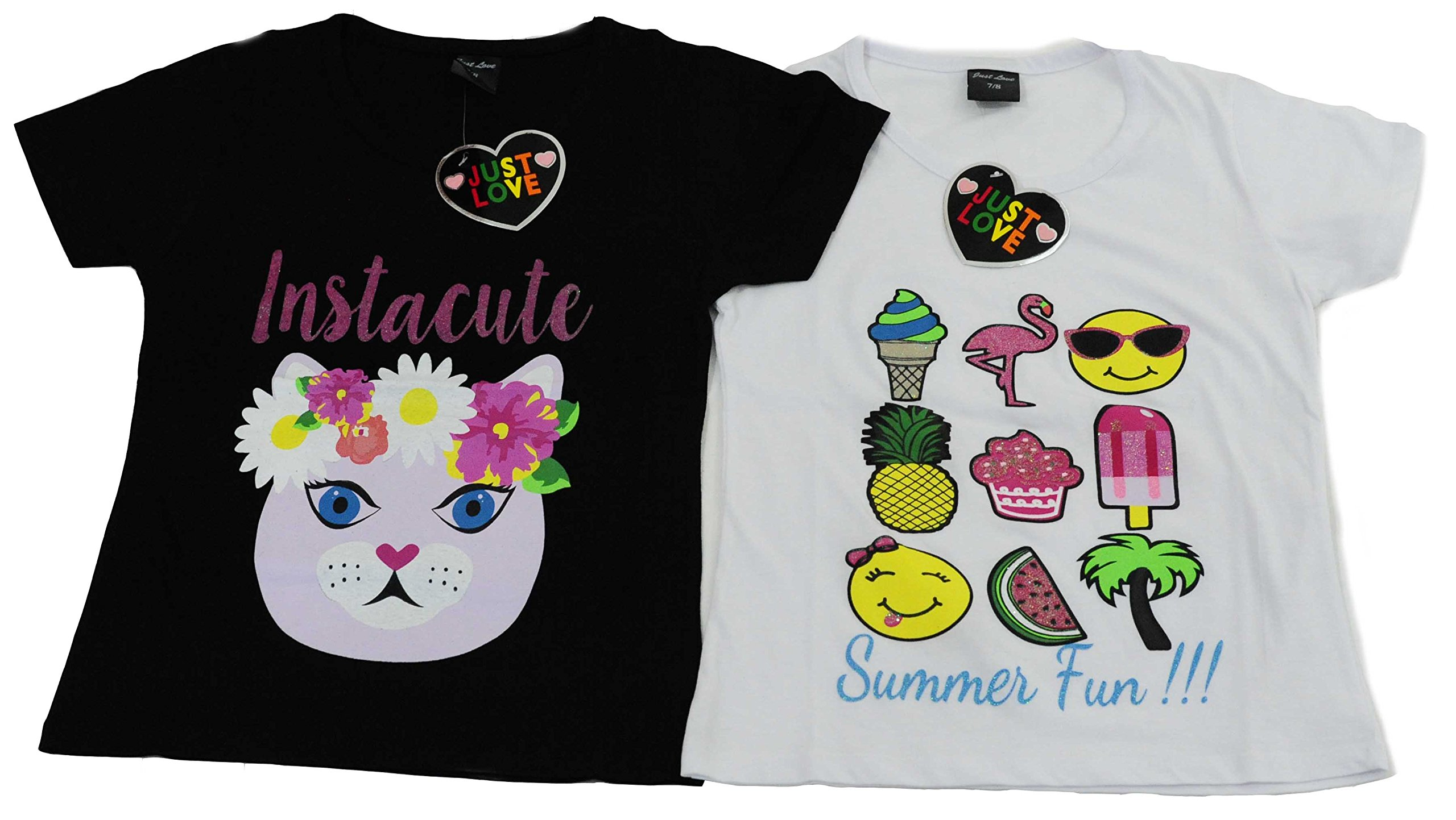 15503-A-10-12 Just Love T Shirts for Girls (Pack of 2)