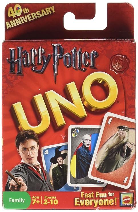 Mattel - Juego de cartas UNO, edición Harry Potter: Amazon ...