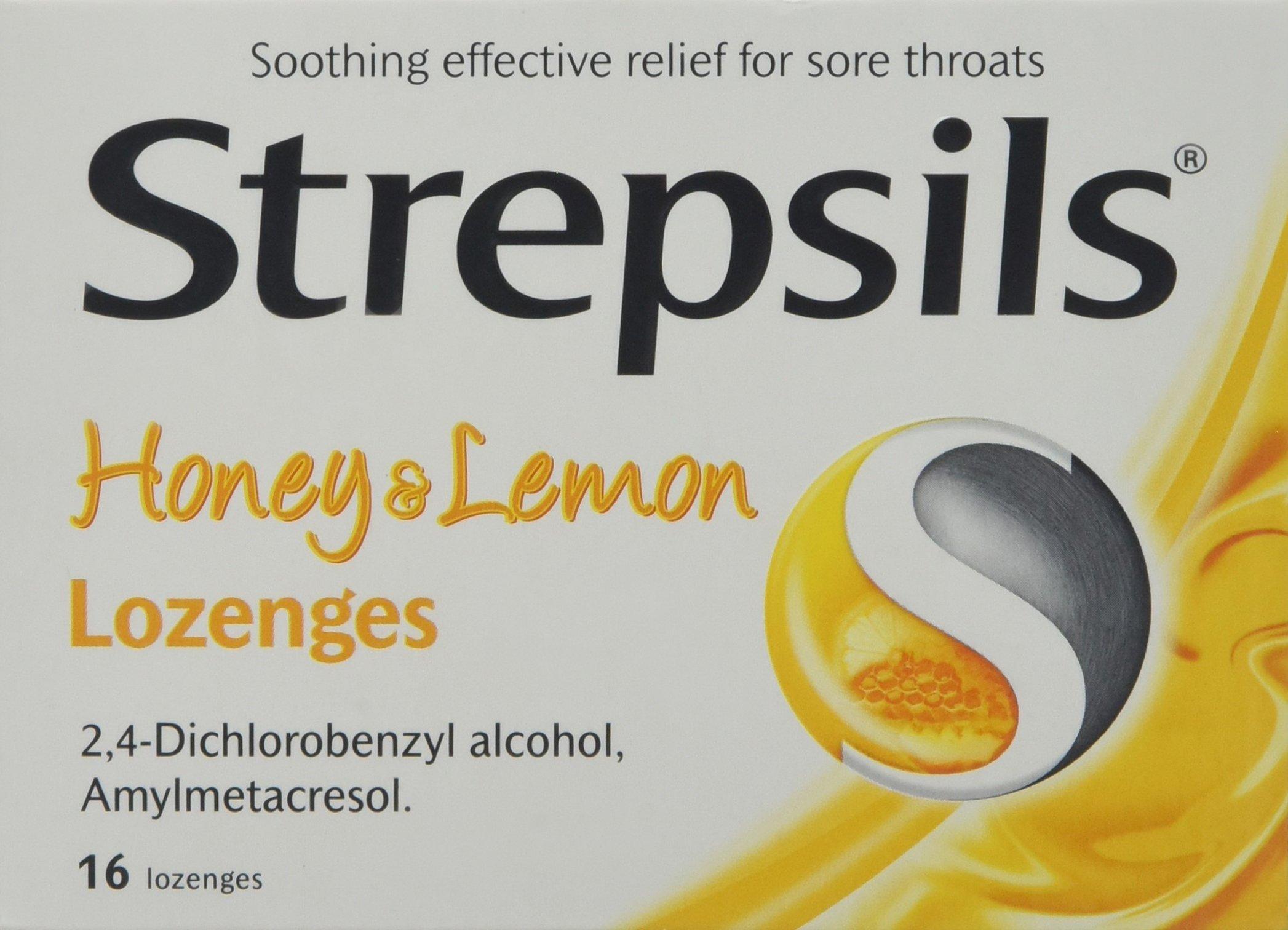 Strepsils Honey and Lemon Lozenges, Pack of 16