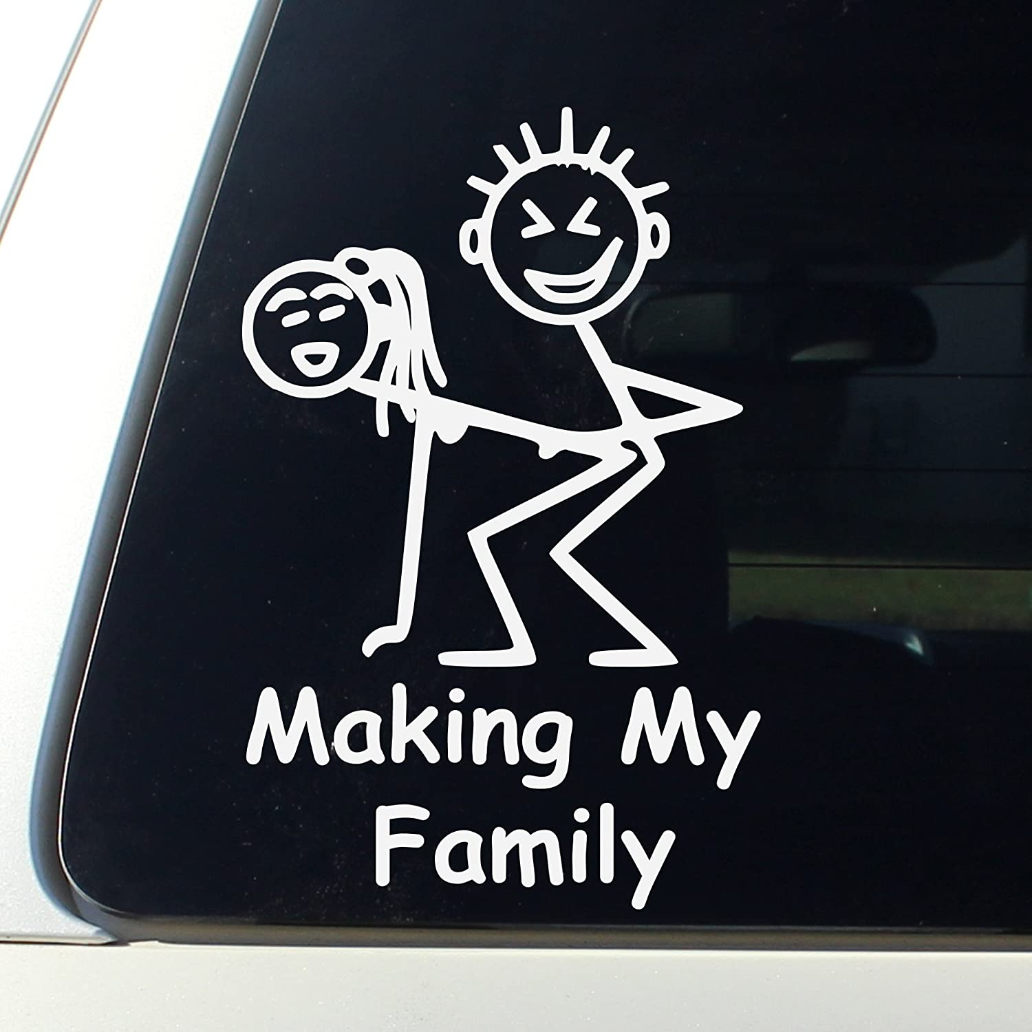 Making my family funny stick figure family decal bumper sticker window funny jeep stickers decals funny signs decals bumper stickers amazon canada