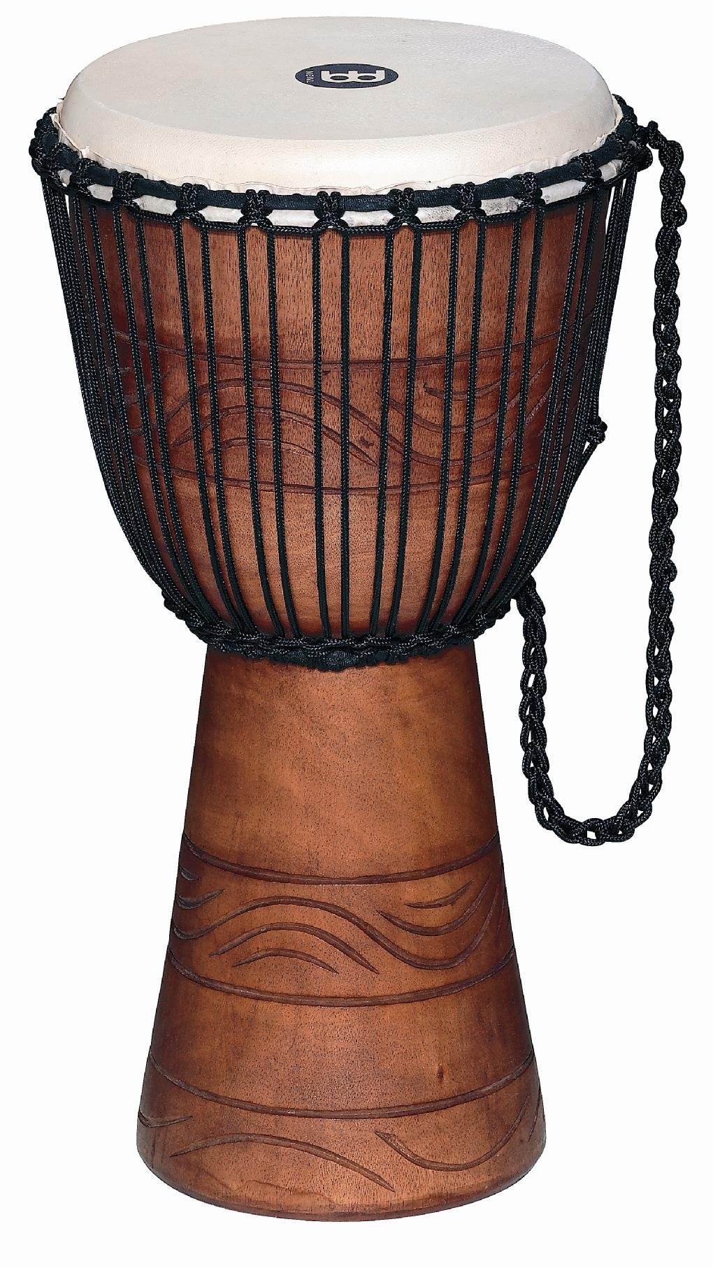 Meinl Percussion ADJ2-M+BAG African Style Rope Tuned 10-Inch Wood Djembe with Bag, Brown