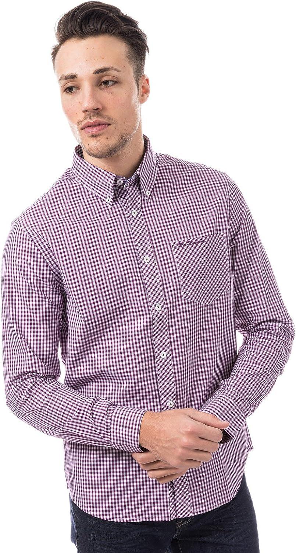 Ben Sherman – Camisa de Manga Larga Vichy Morado Hombre Morado S: Amazon.es: Ropa y accesorios