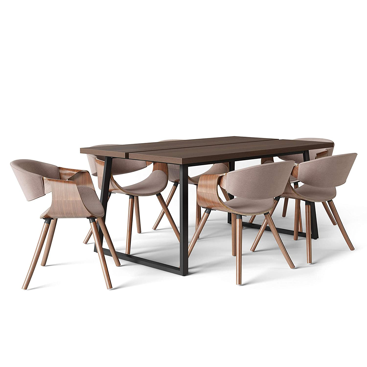 Cool Amazon Com Simpli Home Wayland Mid Century Modern 7 Pc Gmtry Best Dining Table And Chair Ideas Images Gmtryco