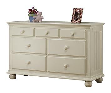 Superb Sorelle Vista 7 Drawer Double Dresser, French White