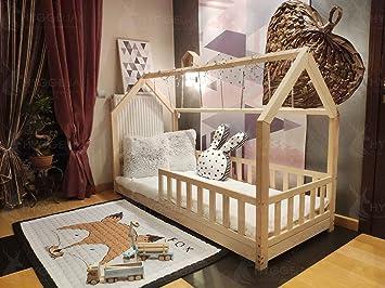Hyggelia Mon lit cabane Maison de lit avec Garde-Corps Bonnie Lit en ...