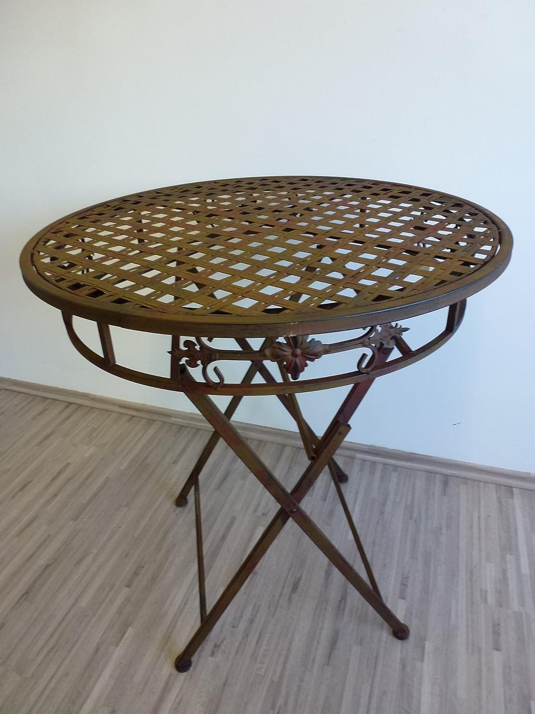 Gartentisch rund Beistelltisch Tisch Klapptisch Metalltisch Balkontischklappbar