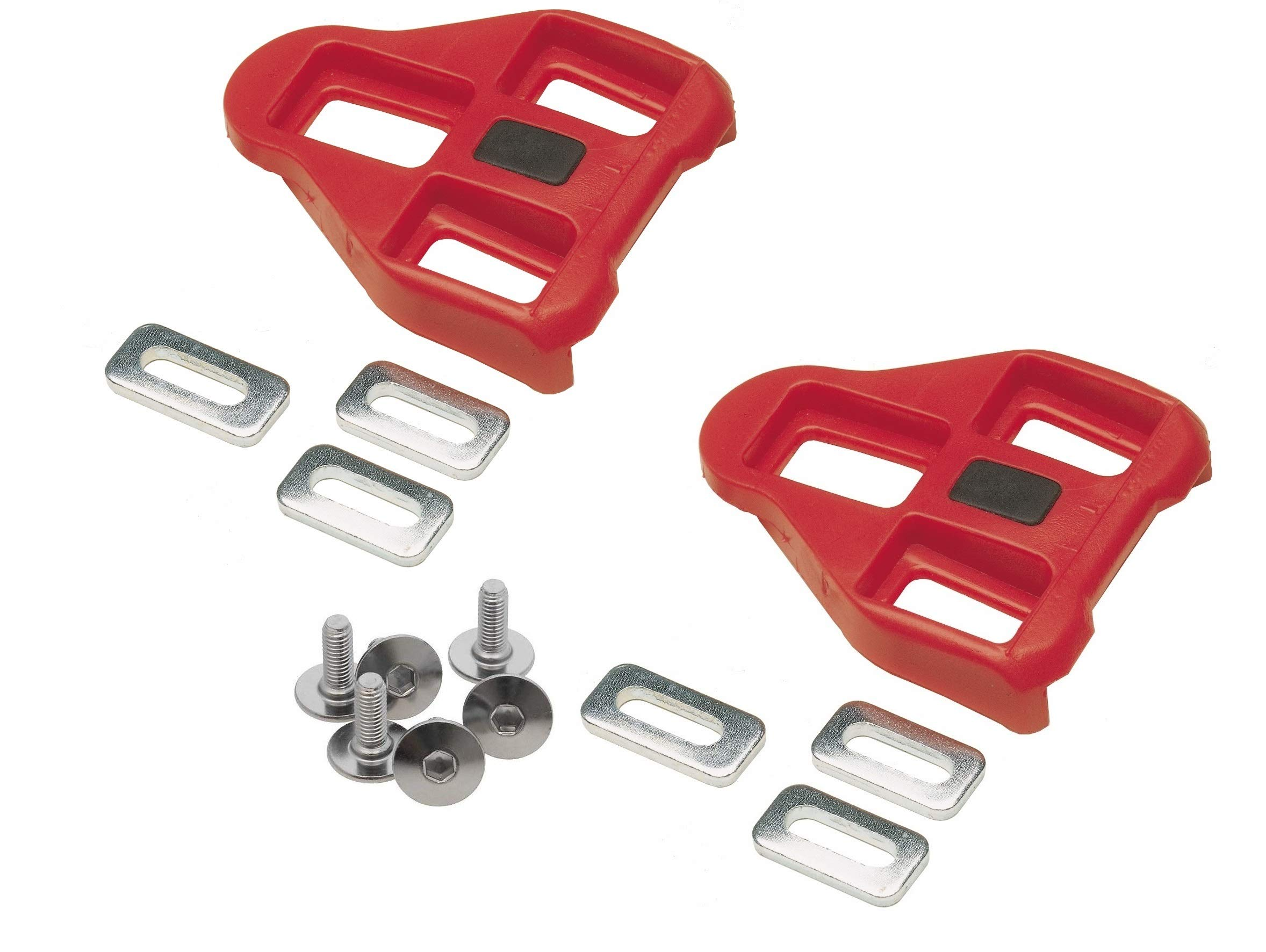 i72 Gio Look Delta Compatible Cleats Red 9 Degree Float - Indoor Cycling and Road Bike by i72