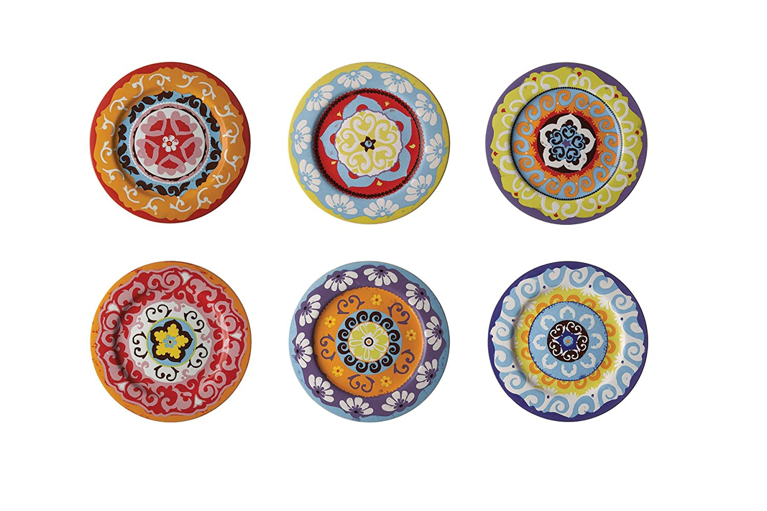 set of  rose  tulipani plates mixed colours mediterranean  - set of  rose  tulipani plates mixed colours mediterranean styleamazoncouk kitchen  home