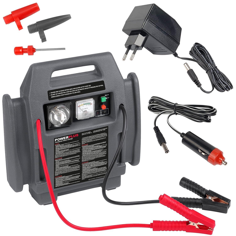 PowerPlus POWE80090 - Arrancador 4-En-1: max. Starterstrom 12 Volt / 900 A: Amazon.es: Bricolaje y herramientas