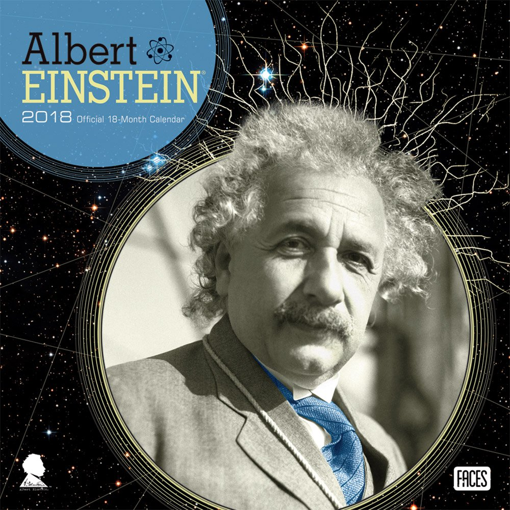 Einstein 2018 12 x 12 Inch Monthly Square Wall Calendar by Faces, Scientist Physicist Pop Art Relativity (Multilingual Edition)