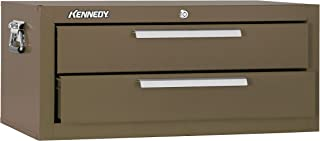 """product image for Kennedy Manufacturing 2602B 2-Drawer Mechanic's Chest Base with Friction Slides, 26"""", Brown Wrinkle"""