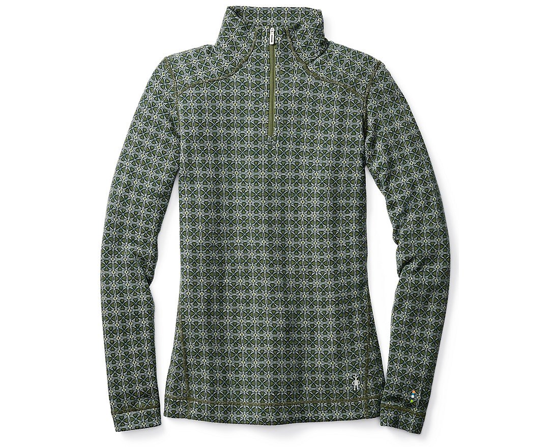 Smartwool Women's NTS Mid 250 Pattern Zip T (Lochness) Medium