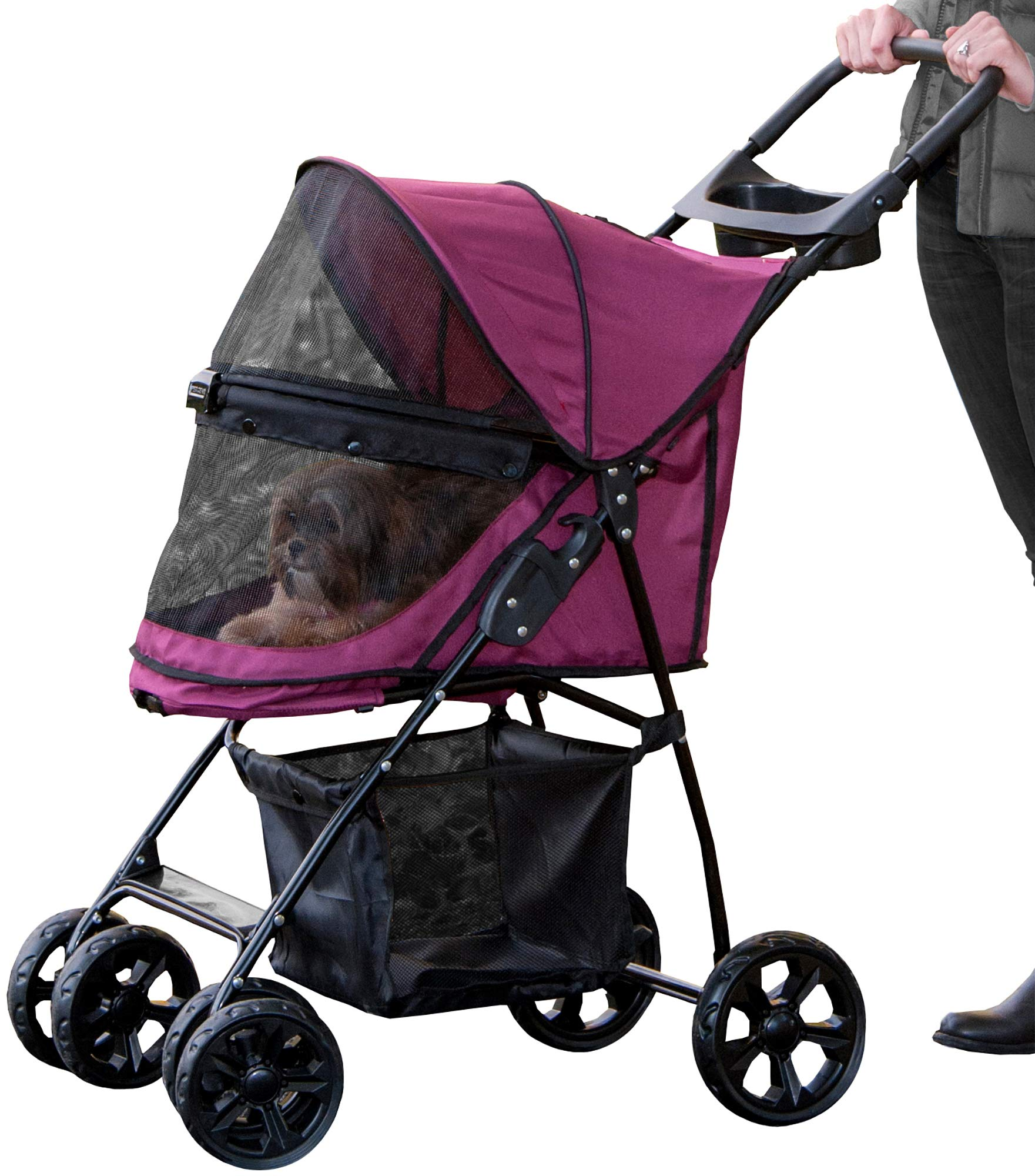 Pet Gear No-Zip Happy Trails Lite Pet Stroller for Cats ...