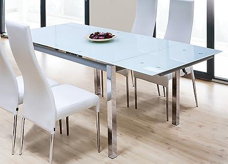 Tavolo per sala da pranzo o Salon rettangolare allungabile vetro ...