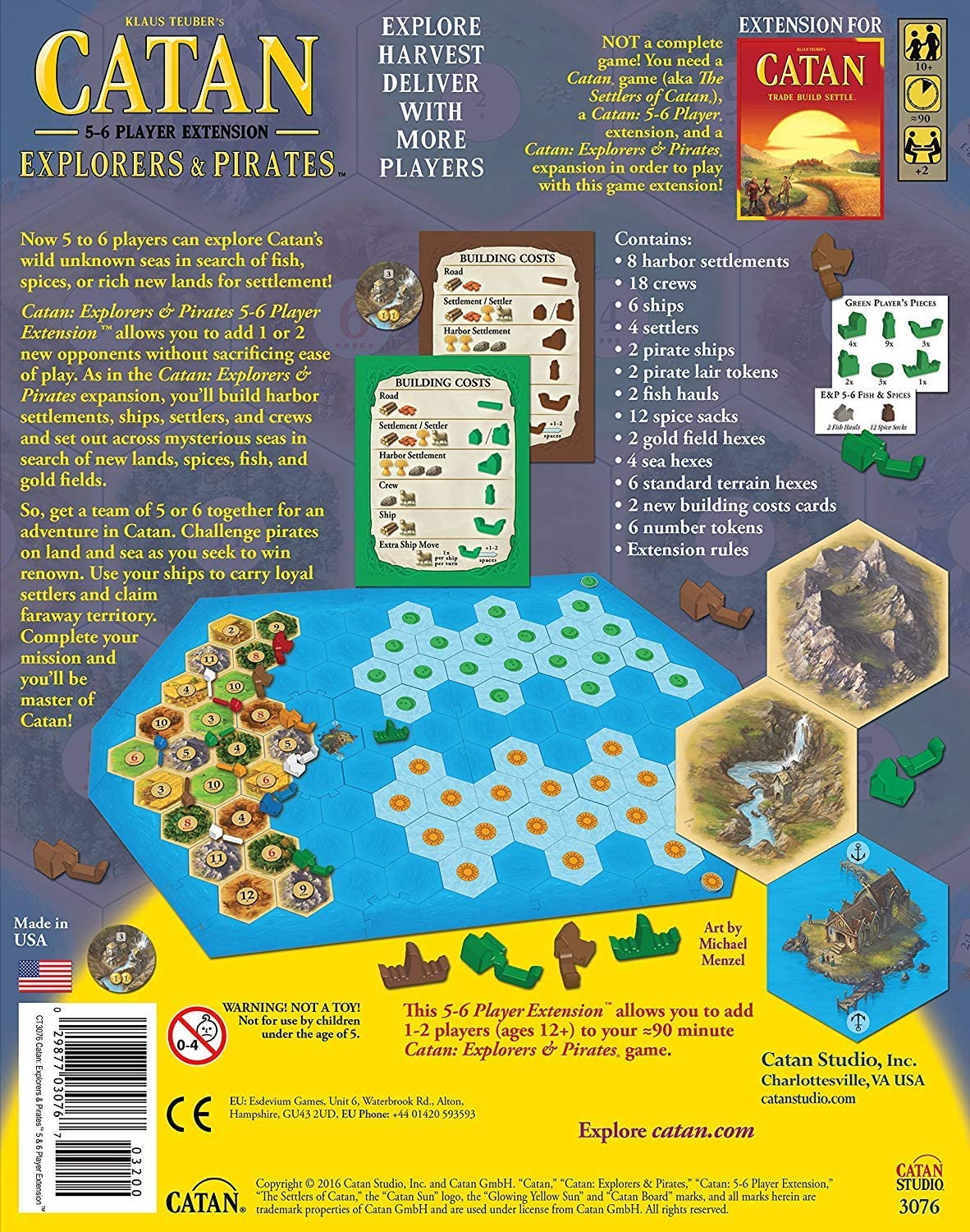 Catan: Explorers and Pirates 5-6 Player Expansion: Amazon.es: Juguetes y juegos