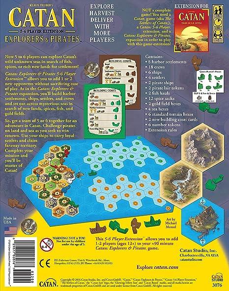 Catan: Explorers and Pirates 5-6 Player Expansion: Amazon.es: Juguetes y juegos