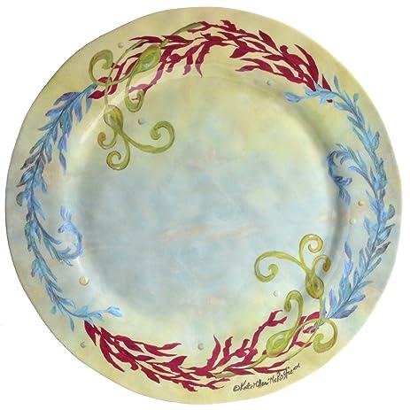 Merritt Sealife 11.5-inch Melamine Dinner Plates Set of 6  sc 1 st  Amazon.com & Amazon.com: Merritt Sealife 11.5-inch Melamine Dinner Plates Set of ...